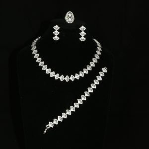 Delicate Silver and Diamante Jewellery Set