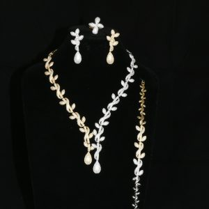 Dramatic Two Tone Gold and Silver Jewellery Set