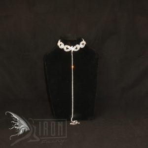 Sassy Diamante Choker and Long Chain