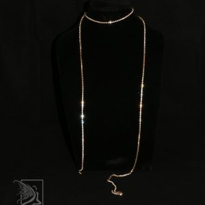 Sparkly Diamante Strand Necklace in Gold
