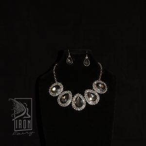 Bold Smoke Grey Jewellery Set