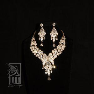 Ornate Diamante Statement Set