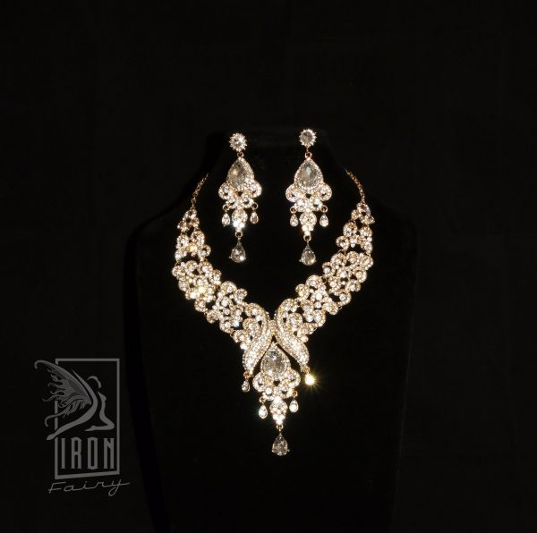 Ornate Diamante Statement Set