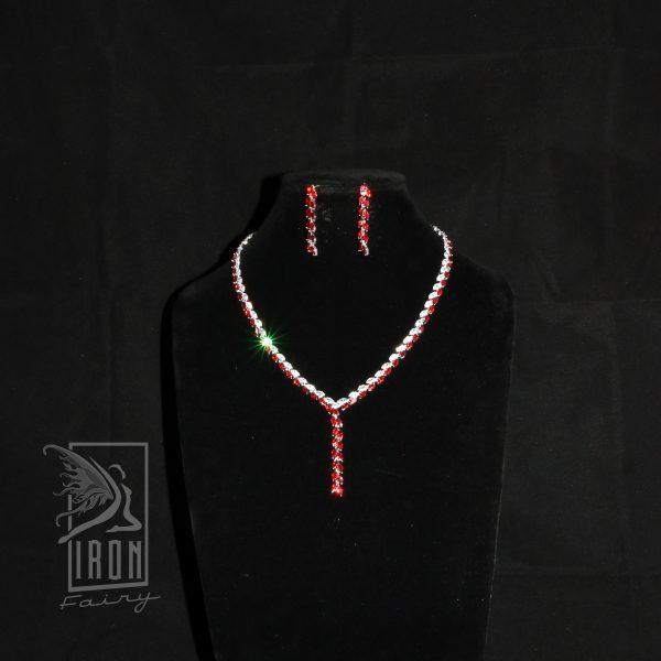 Elegant Y Shaped Ruby Set